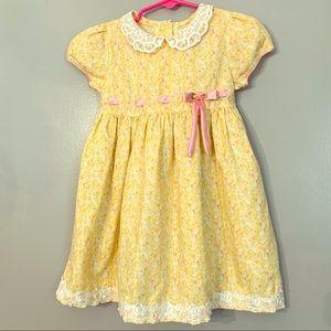Youngland yellow flower toddler dress Sz 4T